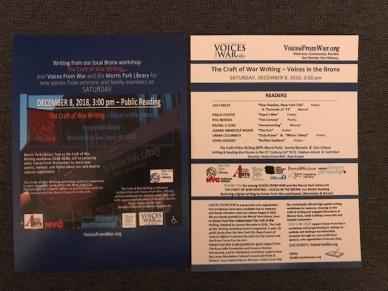 Event_PROGRAM__(VfW-CoWW__Bronx_Reading__12-8-18)